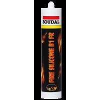 Огнестойкий силиконовый герметик Соудал 300 мл