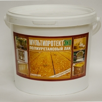 Полиуретановый лак на водной основе «МультиПротект® – ПУ ЭКО» (1 л)  матовый
