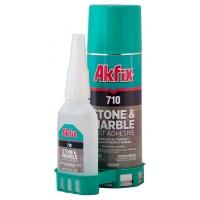Экспресс клей с активатором для камня и мрамора Akfix 710 65гр+200мл (Акфикс 710)